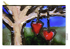 Carry-all Pouch featuring the painting Tree Hearts by Genevieve Esson