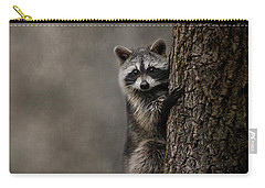 Tree Hugger Raccoon Art Carry-all Pouch by Jai Johnson