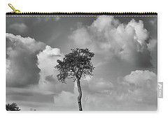 Carry-all Pouch featuring the photograph Tree In A Field by Guy Whiteley