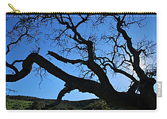 Tree In Rural Hills - Silhouette View Carry-all Pouch