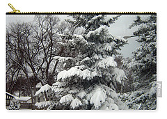 Tree In Snow Carry-all Pouch