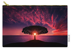 Tree In Sunset Carry-all Pouch by Bess Hamiti
