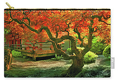 Tree, Japanese Garden Carry-all Pouch by Marius Sipa
