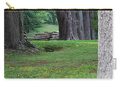 Carry-all Pouch featuring the photograph Tree Line by Eric Liller