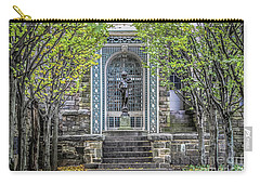 Carry-all Pouch featuring the photograph Tree Lined Formal Garden by Colleen Kammerer