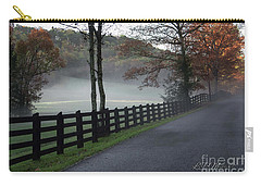 Tree Lined Road In The Fog Carry-all Pouch
