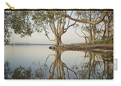 Carry-all Pouch featuring the photograph Tree Love Down By The Lake by Keiran Lusk