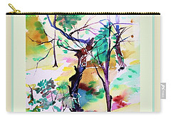 Carry-all Pouch featuring the painting Tree Lovers by Mindy Newman
