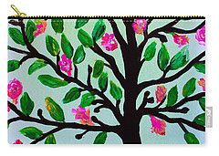 Carry-all Pouch featuring the painting Tree Of Essence by Pristine Cartera Turkus