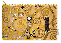 Tree Of Life Carry-all Pouch by Gustav Klimt