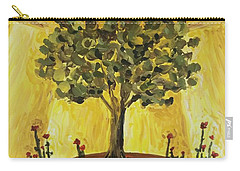 Carry-all Pouch featuring the painting Tree Of Life by Maria Langgle