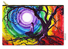 Tree Of Life Meditation Carry-all Pouch by Laura Iverson