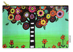 Carry-all Pouch featuring the painting Tree Of Life by Pristine Cartera Turkus