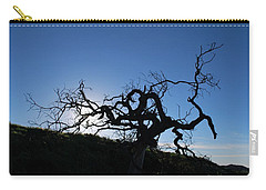 Carry-all Pouch featuring the photograph Tree Of Light Silhouette Hillside by Matt Harang