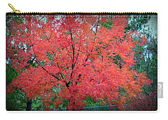Carry-all Pouch featuring the photograph Tree On Fire by AJ Schibig