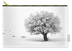 Tree On Snowy Slope Carry-all Pouch