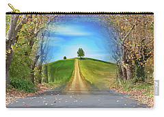 Tree On The Hill Montage Carry-all Pouch