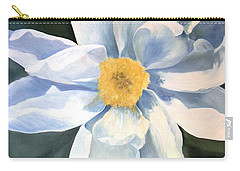 Carry-all Pouch featuring the painting Tree Peony by Laurie Rohner