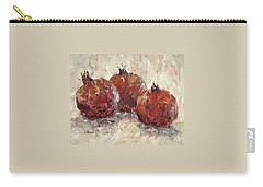 Three Pomegranates Carry-all Pouch by Jill Musser