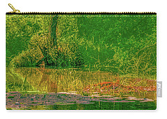 Carry-all Pouch featuring the photograph Tree Reflection June 2016 by Leif Sohlman