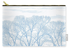 Carry-all Pouch featuring the photograph Tree Silhouette Blue by Jennie Marie Schell