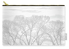 Carry-all Pouch featuring the photograph Tree Silhouette Gray by Jennie Marie Schell
