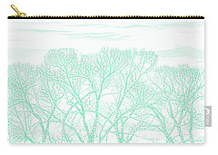 Carry-all Pouch featuring the photograph Tree Silhouette Teal by Jennie Marie Schell