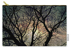 Carry-all Pouch featuring the photograph Tree Silhouette With Stars. by Yulia Kazansky