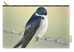 Carry-all Pouch featuring the photograph Tree Swallow by Jennie Marie Schell