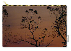 Carry-all Pouch featuring the photograph Tree Top After Sunset by Donald C Morgan