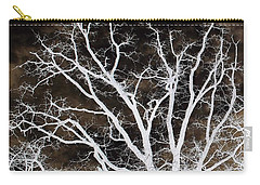 Carry-all Pouch featuring the photograph Tree Top Left Diptych by Ellen Barron O'Reilly