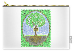 Carry-all Pouch featuring the digital art Tree With Heart And Sun by Lise Winne