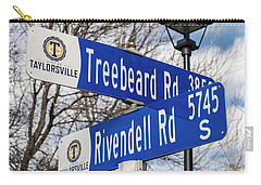 Carry-all Pouch featuring the photograph Treebeard And Rivendell Street Signs by Gary Whitton