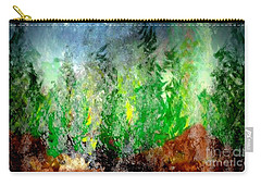 Carry-all Pouch featuring the painting Trees 4 by John Krakora