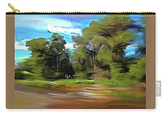 Trees Along The River Carry-all Pouch by Lenore Senior