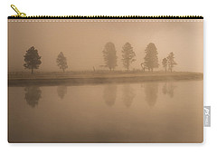 Carry-all Pouch featuring the photograph Trees And Fog by Gary Lengyel
