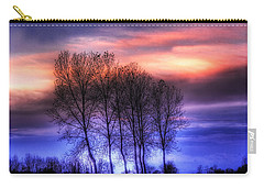 Trees And Twilight Carry-all Pouch