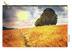 Carry-all Pouch featuring the photograph Trees At The Top by Debra and Dave Vanderlaan