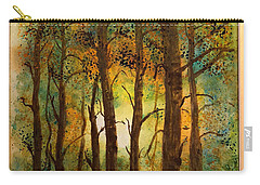 Carry-all Pouch featuring the painting Trees by Donald Paczynski