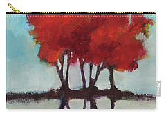 Carry-all Pouch featuring the painting Trees For Alice by Michelle Abrams