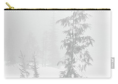 Trees In Fog Monochrome Carry-all Pouch