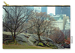 Trees In Rock Carry-all Pouch by Sandy Moulder