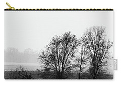 Trees In The Mist Carry-all Pouch by Jay Stockhaus