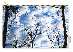 Trees In The Sky Carry-all Pouch by Shari Jardina