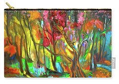 Trees Carry-all Pouch by Jenny Lee