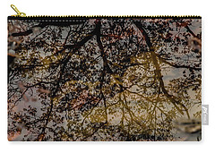 Carry-all Pouch featuring the photograph Tree's Reflection by Iris Greenwell