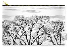 Carry-all Pouch featuring the photograph Trees Silhouette Black And White by Jennie Marie Schell