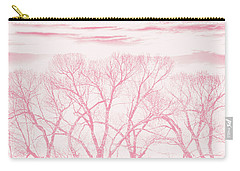 Carry-all Pouch featuring the photograph Trees Silhouette Pink by Jennie Marie Schell
