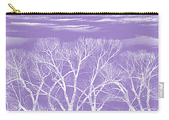 Carry-all Pouch featuring the photograph Trees Silhouette Purple by Jennie Marie Schell