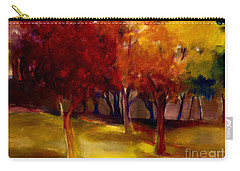 Carry-all Pouch featuring the painting Treescape by Michelle Abrams